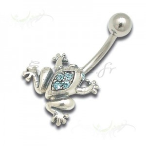 piercing nombril grenouille frog