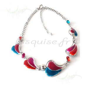 Collier fantaisie bicolore