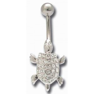 Tortue amovible - piercing nombril
