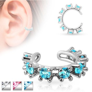 Faux piercing oreille diamant