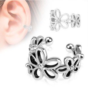 Faux piercing oreille cartilage marguerite