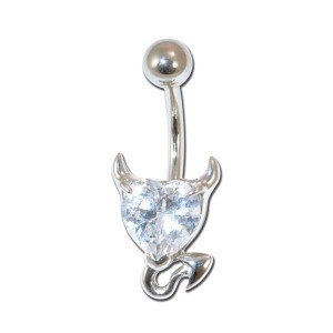 Piercing nombril Crystal petit diable