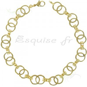 Bracelet double cercles or