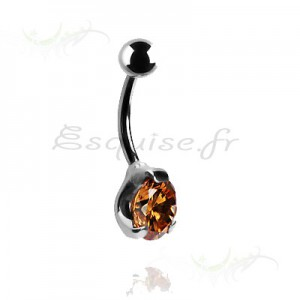Piercing nombril strass lumineux