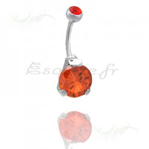 Piercing nombril double cristal