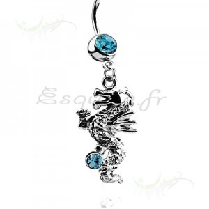 Piercing nombril dragon chinois