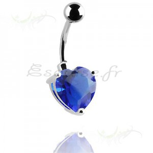 Piercing nombril coeur double face