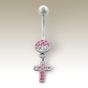 Piercing nombril croix vintage