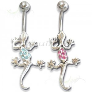 Piercing nombril lezard articule - Banabells de nombril strass et gemme
