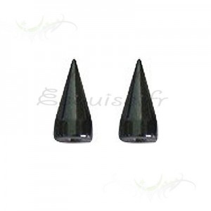Element pointe piercing acier long cone de 3 x 7 mm