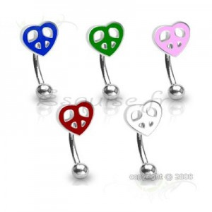 Piercing arcade coeur peace & love