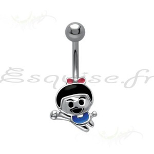 Piercing nombril petit panda