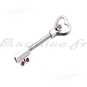 Piercing Barbell teton coeur amour