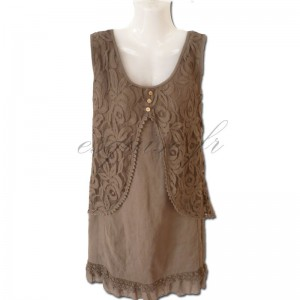 robe tunique marron tendance et fashion