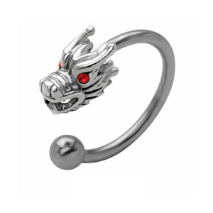 Body piercing dragon de feu