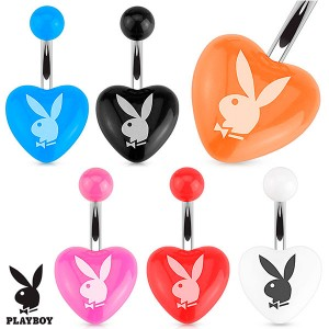 Piercing nombril lapin coeur