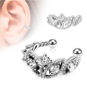 Faux piercing oreille cartilage incrusté de brillant