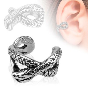Faux piercing oreille cartilage serpent