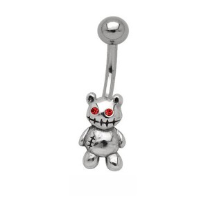 Piercing nombril nounours - banane nombril acier
