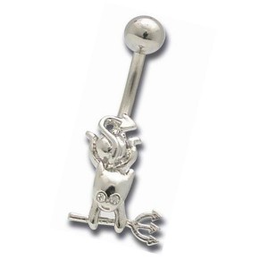 Piercing articulé de nombril petit diable