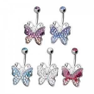 Bijoux nombril Papillon Crystal Evolution Swarovski
